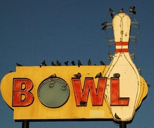 bowl, bowling, and sign image