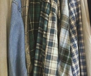 aesthetic, flannel, and grunge image