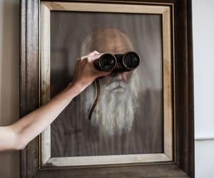 aesthetic, binoculars, and brown image