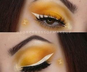 eyeliner, eyeshadow, and gemini image