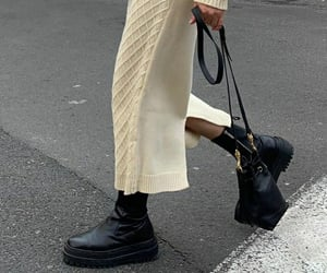 black, boots, and chic image