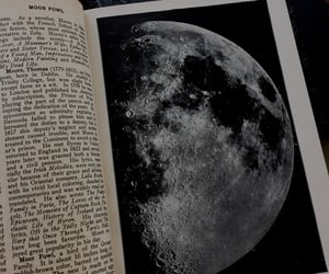 moon, aesthetic, and book image