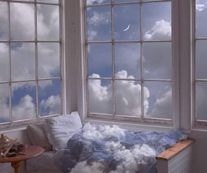 aesthetic, clouds, and bedroom image