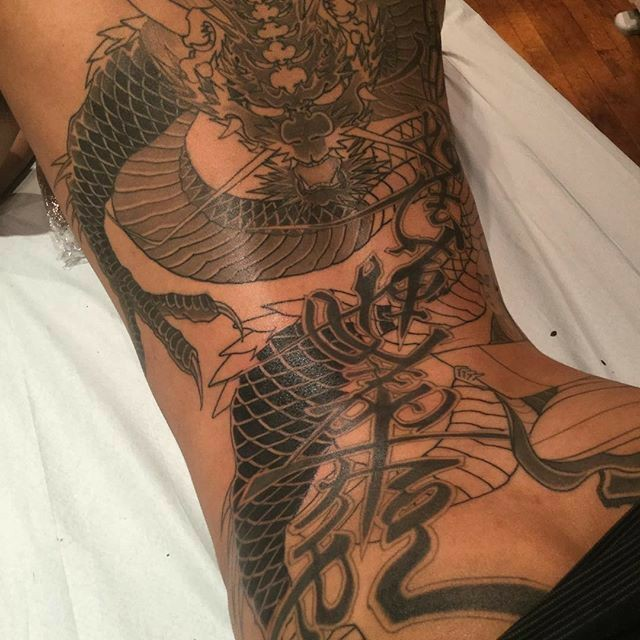 tattoo, dragon, and aesthetic image