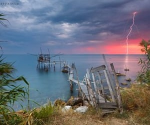 adriatic sea, cielo, and lightning strike image