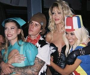 justin bieber, hailey bieber, and kourtney kardashian image