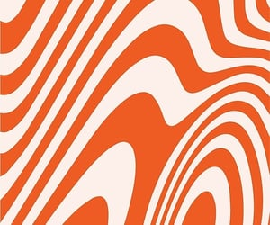 'Deep Orange Zebra Grooves Abstract Pattern Art' by patternsoup