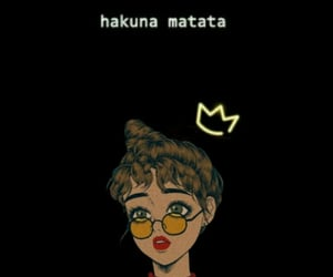 girl, glasses, and hakuna matata image