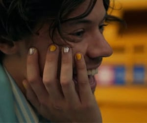 Harry Styles, golden, and smile image