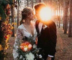 amor, bride, and groom image