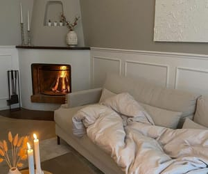 home, aesthetics, and fireplace image
