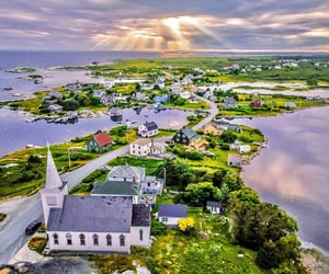 aerial photography, landscape, and seaside image