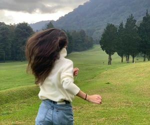 girl, nature, and run image