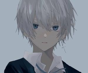anime, blue eyes, and original art image
