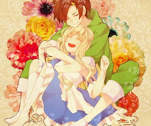 anime couple, cute, and sato and mary image