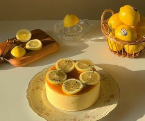 food, cake, and lemon image