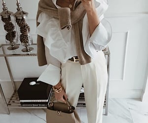 beige, white, and outfit image