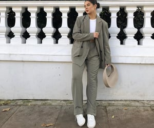 street style, everyday look, and white sneakers image