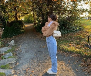 chanel bag, turtleneck sweater, and simple casual look image