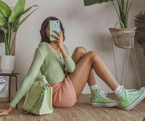 fashion, green, and girl image