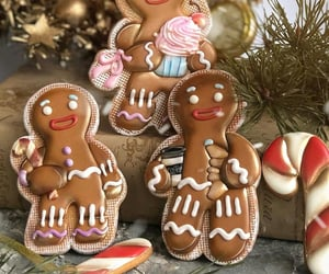 christmas, gingerbread cookies, and holiday image