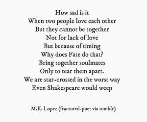 break up, heartbreak, and shakespeare image