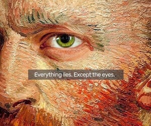 eyes, van gogh, and quotes image