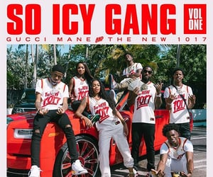 gang, red car, and gucci mane image