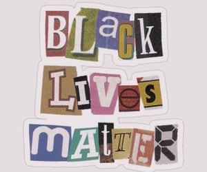 stickers and blm image