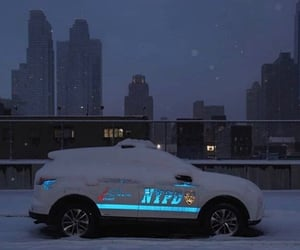 aesthetic, car, and snow image