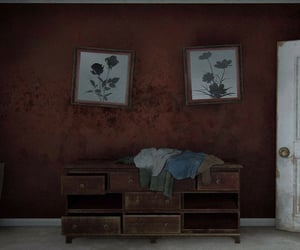 grunge, dark, and red image