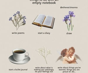angel, diary, and flower image