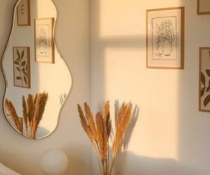 aesthetic, decor, and mirror image