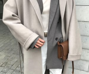 blogger, fashion, and grey blazer image