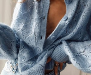 blue, cardigan, and fall winter image