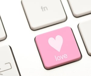 pink, love, and keyboard image