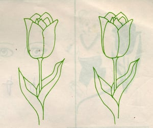 green, archive, and flowers image