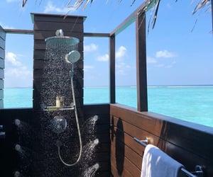 bathroom, beach, and home image