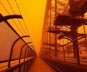 aesthetic, mist, and orange image