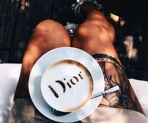 cafe, coffee, and girl image