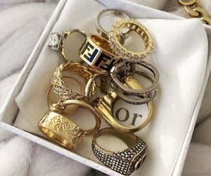 dior, rings, and fashion image
