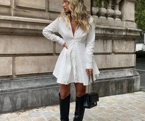 Blanc, chic, and dress image
