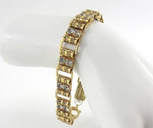 rhinestone bracelet, wedding bracelet, and victorian revival image