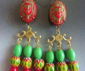 art deco, etsy, and dangle earrings image