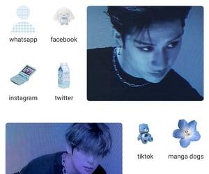 blue, kpop, and homescreen image
