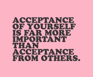 quotes, pink, and acceptance image
