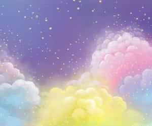 clouds, brillo, and colores image