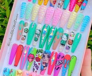 long nails, nails, and acrylic nails image