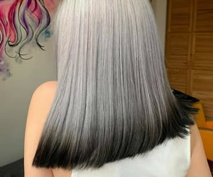 color hair, gray hair, and hairstyle image