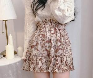 asian fashion, flower, and korean fashion image